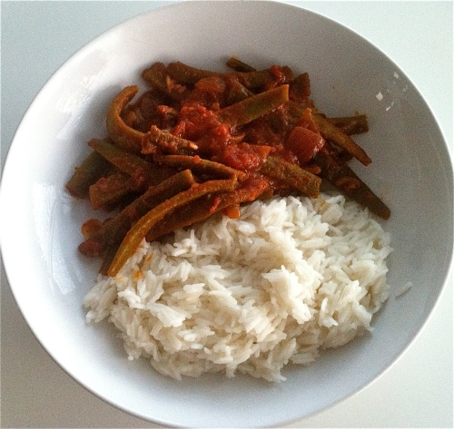 Green beans with rice