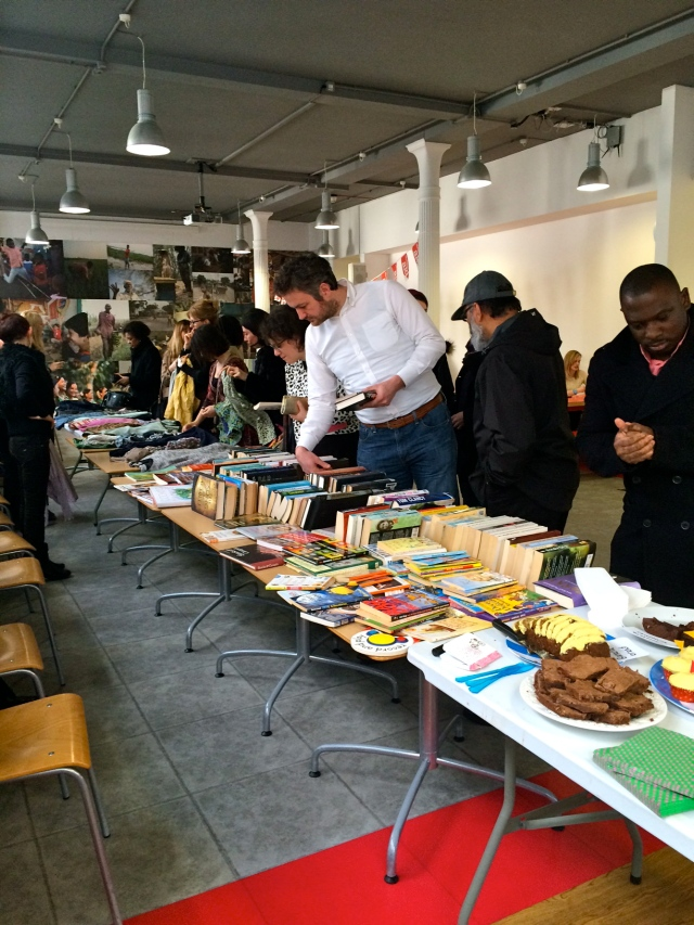 Cakes and books sale