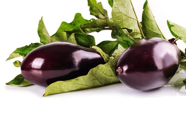 Leaves Eggplant Vegetarian Vegetables Natural